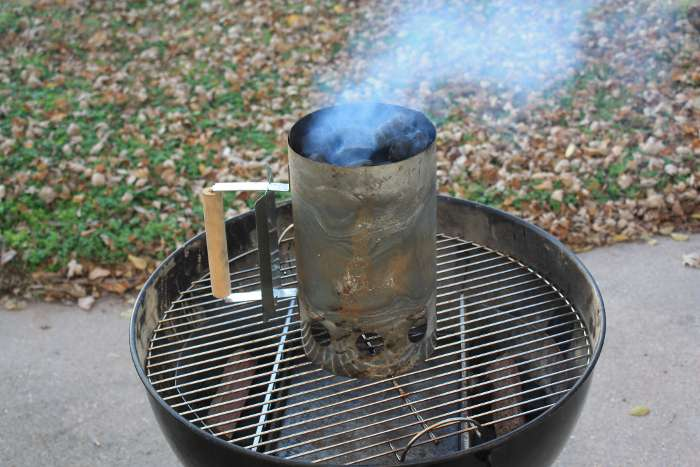 how to use a weber chimney